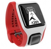 TomTom Runner Cardio GPS Watch, Red & White
