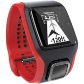TomTom Multi-Sport Cardio Watch, Red/Black Bundle