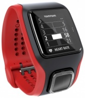 TomTom Runner Cardio GPS Watch, Red & Black