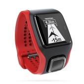TomTom MultiSport Cardio Watch, Red/Black