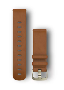 GARMIN Quickfit 20mm Replacement Leather Band Light Brown Sm/Med 010-12691-02
