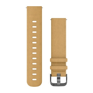 GARMIN Quickfit 20mm Replacement Band Tan Suede 010-12691-04
