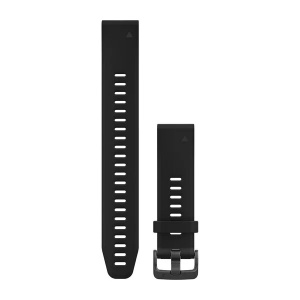 Garmin Quickfit 20mm Watch Strap Black Silicone Large 010-12739-07