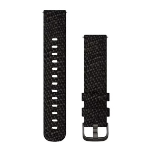 Garmin Quick Release 20mm Black Pepper Woven Nylon Band with Slate Hardware 010-12924-13