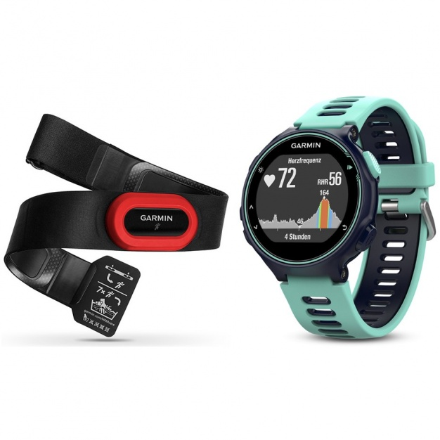 Garmin Forerunner 735XT Midnight Blue/Frost Blue Run Bundle  010-01614-16