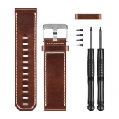 Garmin Replacement Watch Band, Brown Leather Fenix 3, D2 Bravo, Tactix 010-12168-12
